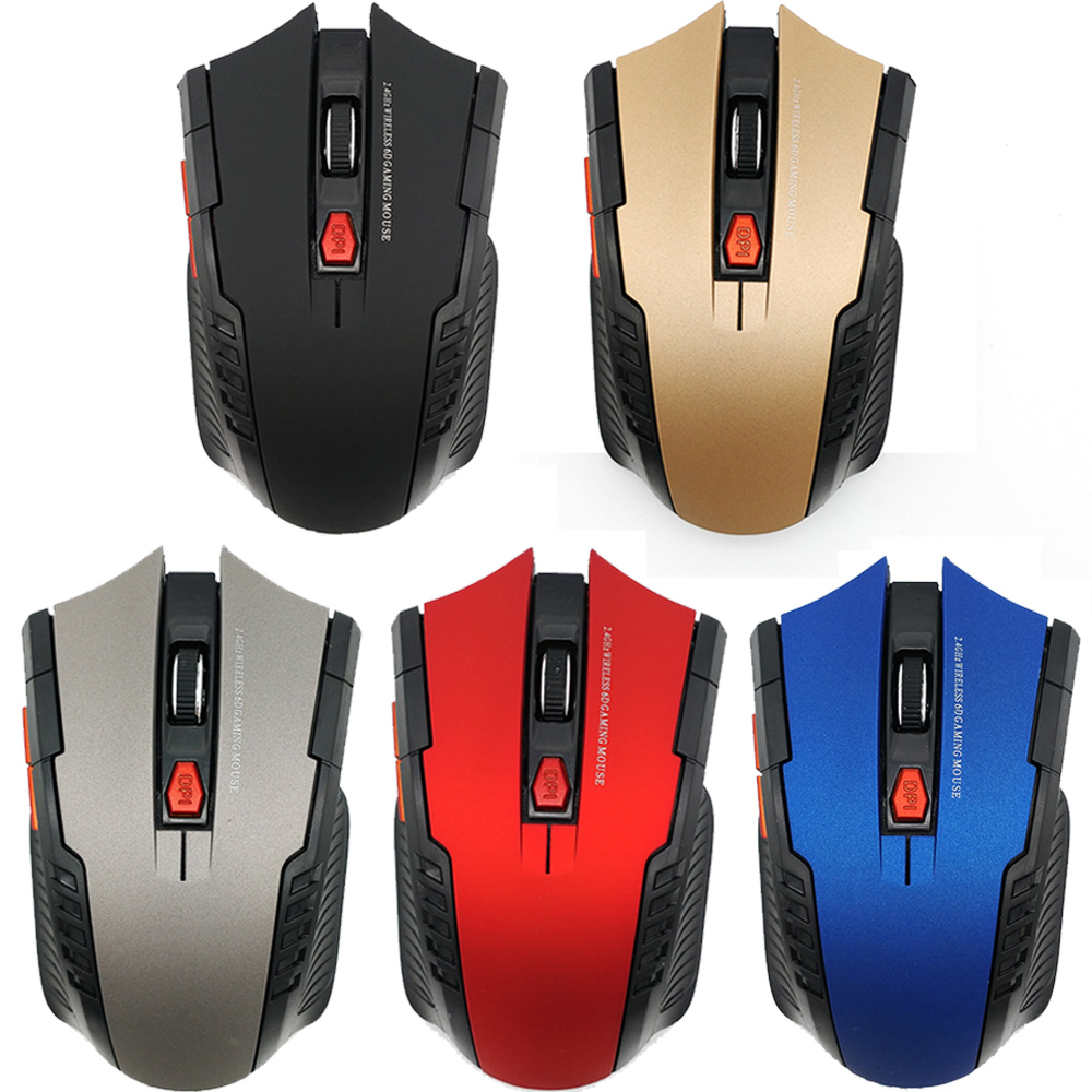 Professional USB Wireless Mouse USB 2.0 Receiver Optical Computer Mouse 2.4GHz Ergonomic title=