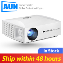 AUN Projector Beamer LED Video 3d WIFI F30UP 1920x1080p. Home Cinema Android-6.0 Full-Hd