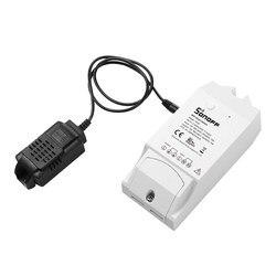 Умный Wi-Fi выключатель Sonoff TH16, с мониторингом температуры, влажности, Wi-Fi смарт-выключатель, набор для автоматизации дома, работает с Alexa Google ...