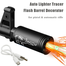 Decorator Shooting-Accessory Flash-Barrel Pistol Auto-Lighter Tactical Airsoft for Simulate