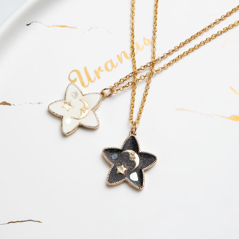 Anime Character Cartoon Necklaces Women Girl Children Christmas Deer Stocking Santa Claus Planet Moon Star Necklace&Pendant Gift (11)