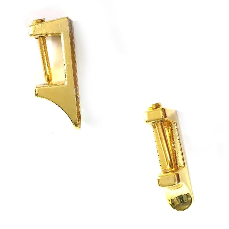 Metal Ear Shoulder Strap Hang Buckles Side Clamp Hook DIY Handle Lock Side Clip Luggage Accessories