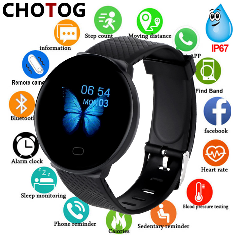 Monitor Fitness-Tracker Smart-Watch IOS Blood-Pressure-Heart-Rate Android Men Ip67 Waterproof title=