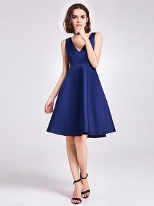 Homecoming-Dresses Ever Pretty Evening Sleeveless V-Neck Satin Simple A-Line EP05894NB