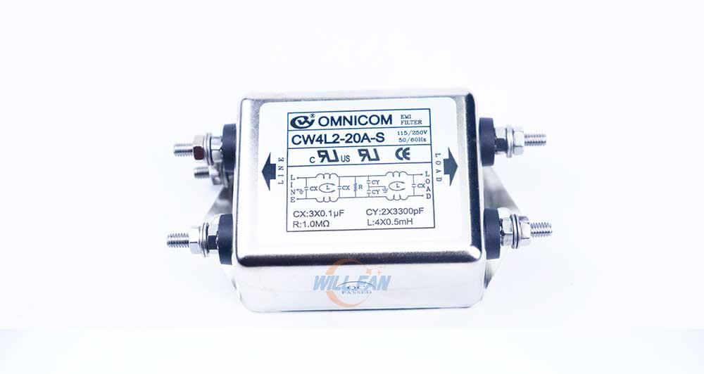 CW4L2-20A-S AC115-250V EMI Filter 20A Gold-Plated Copper Screw Type equipments