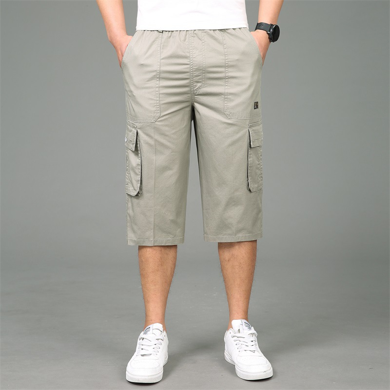 Summer Cotton Loose Cargo Shorts Large Size XL-6XL Sports Shorts Lightweight Breathable Men/'s Breeches Thin Hiking Travel Shorts