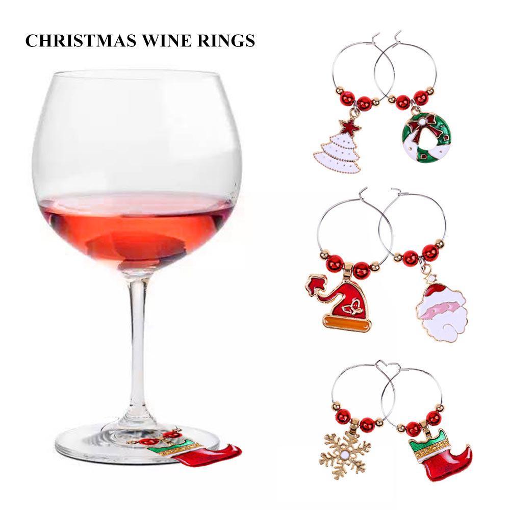 Glass Wine Glass Charms Christmas Penguin Set of 4