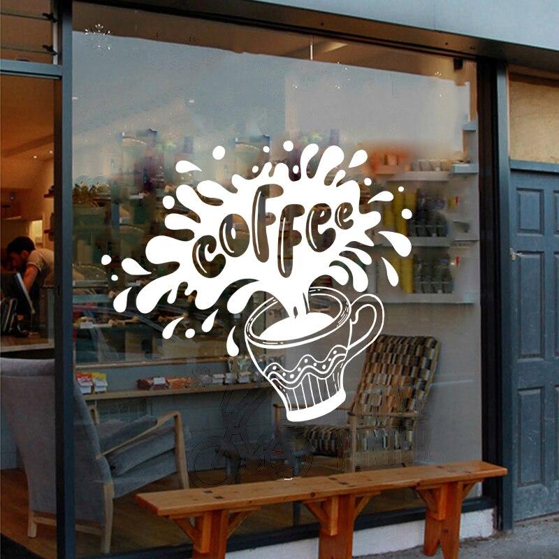 DCTAL Milk tea Coffee Shop Cafes Ice Cream Bread Cake Kitchen Wall Art Sticker Decal DIY Home Decoration Mural Decor