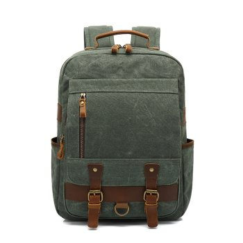 Men Canvas Shoulder Bag Portable Outdoor Travel Leather Leisure Backpack Male Women Shoulder Waterproof Oil Wax New Arrive