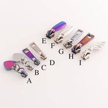 Long-Pull-Zipper-Heads Puller Head-Zipper-Slider Rainbow/silver Sewing Handbag Hardware-Bag