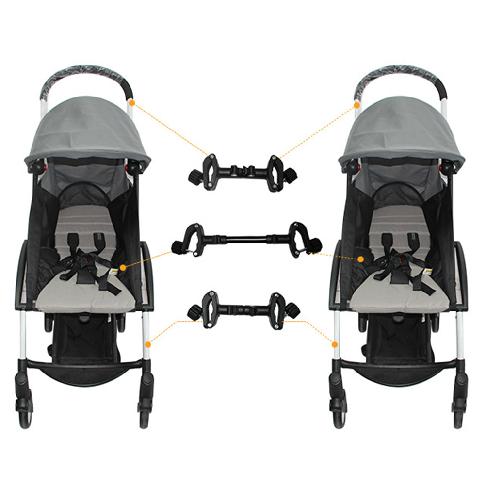 Connector 3PCS//Set Linker Black Joint Durable Portable Twins Adapter Pushchair Couplers Bush Insert Into Accessories for Yoyaplus Baby Stroller