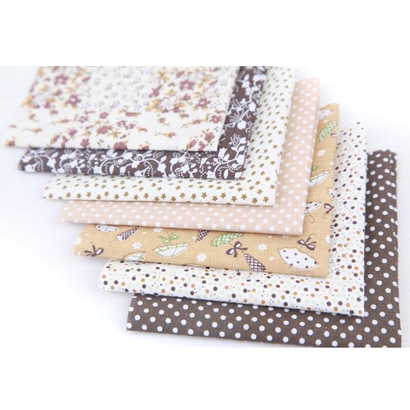 7pcs New 50*50cm 100% Cotton Fabric Assorted Pre-cut Quilt Fabric Quarter Bundle   66