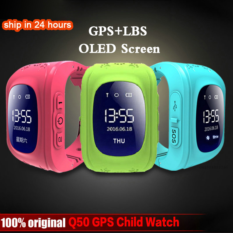 Gps-Tracker Watch Smart-Monitoring Gps Baby Q50-Oled Android Anti-Lost Kids Child New title=