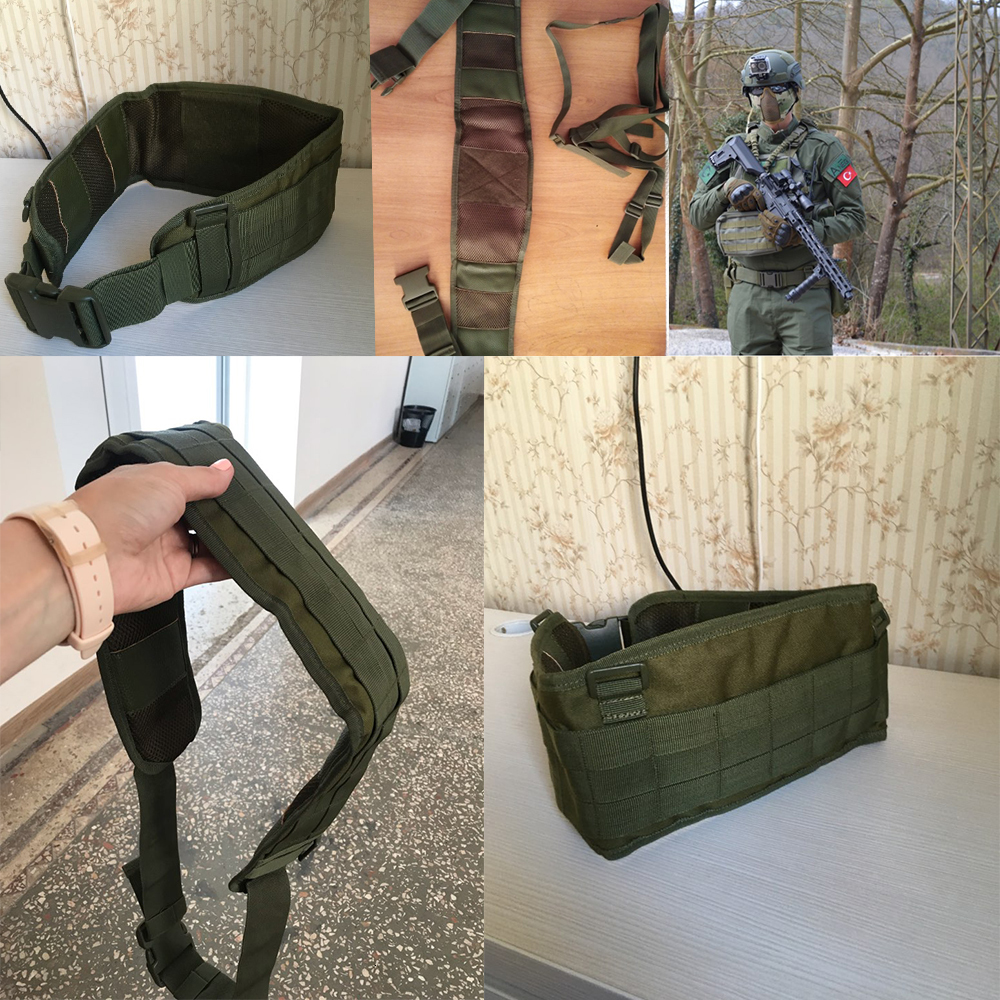 Eono Essential Cintur/ón de nylon ligero para hombres mujeres Cintur/ón militar t/áctico de alta resistencia Liberaci/ón r/ápida Cintur/ón de hebilla libre de metal