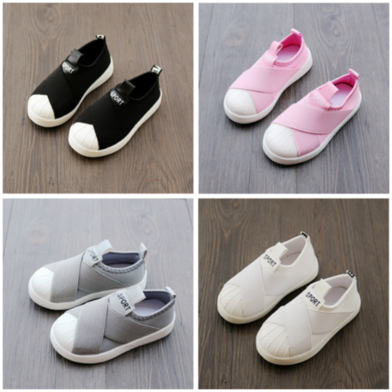 Kids Shoes Sneakers Baby-Girls Breathable Casual Flats Black/gray for New Children's