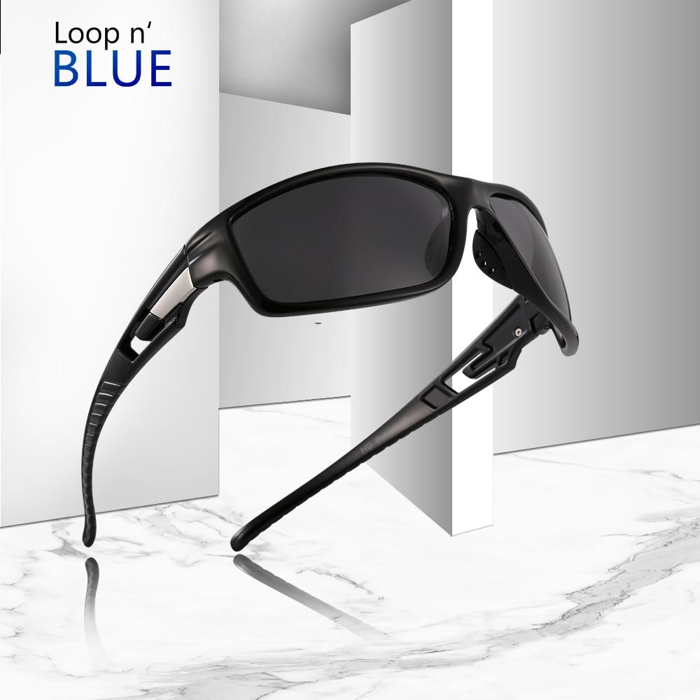 Mens Sunglasses Polarized Black Fishing Driving Outdoor Sports Eyewear Glasses
