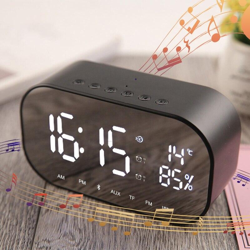 Huawei Будильник Bluetooth динамик fm-радио портативный беспроводной громкий динамик s стерео музыка TF динамик s для спальни погода