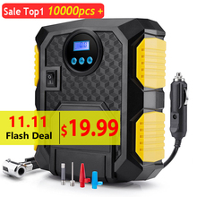 Tire Inflator Air-Compressor-Pump Bicycles Car Digital 12-Volt Portable 150-Psi DC