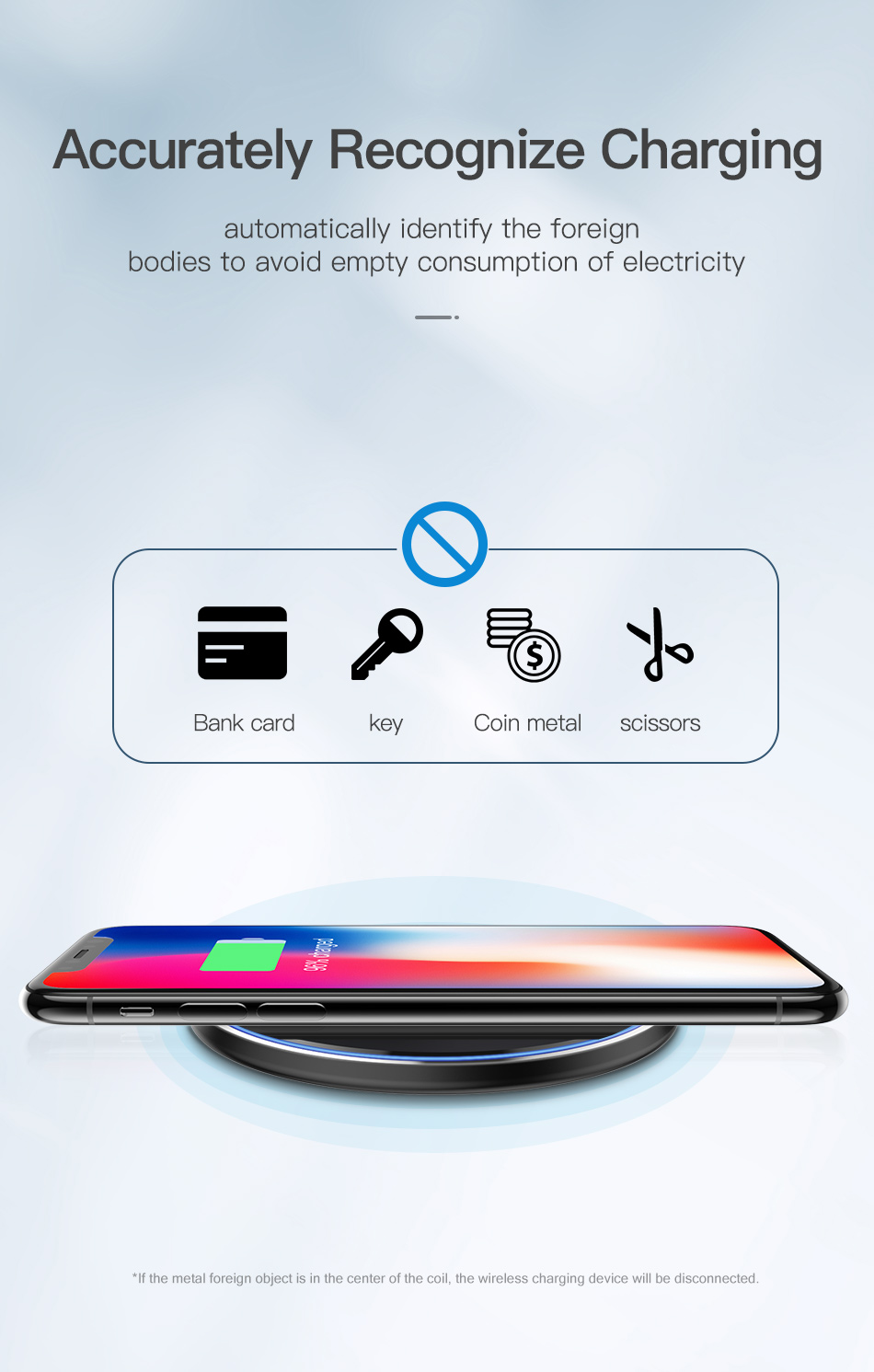 KUULAA Wireless Charger 10W Qi for Samsung S9 S10+ Note 9 8 Mirror Wireless Charging Pad 7.5W for iPhone X/XS Max XR 8 Plu 9