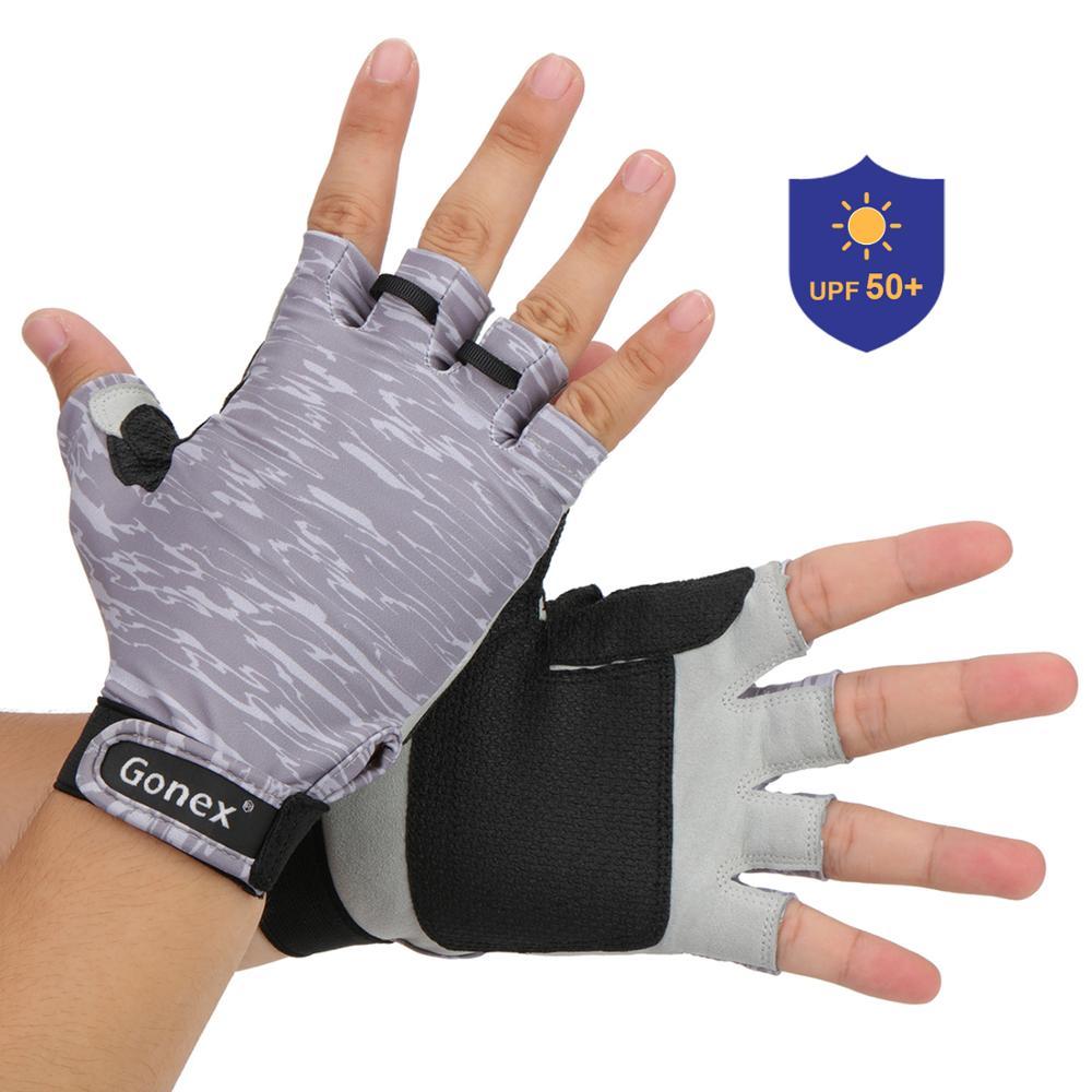 Riverruns Fingerless Fishing Gloves Sun Protection for Men outdoor sports