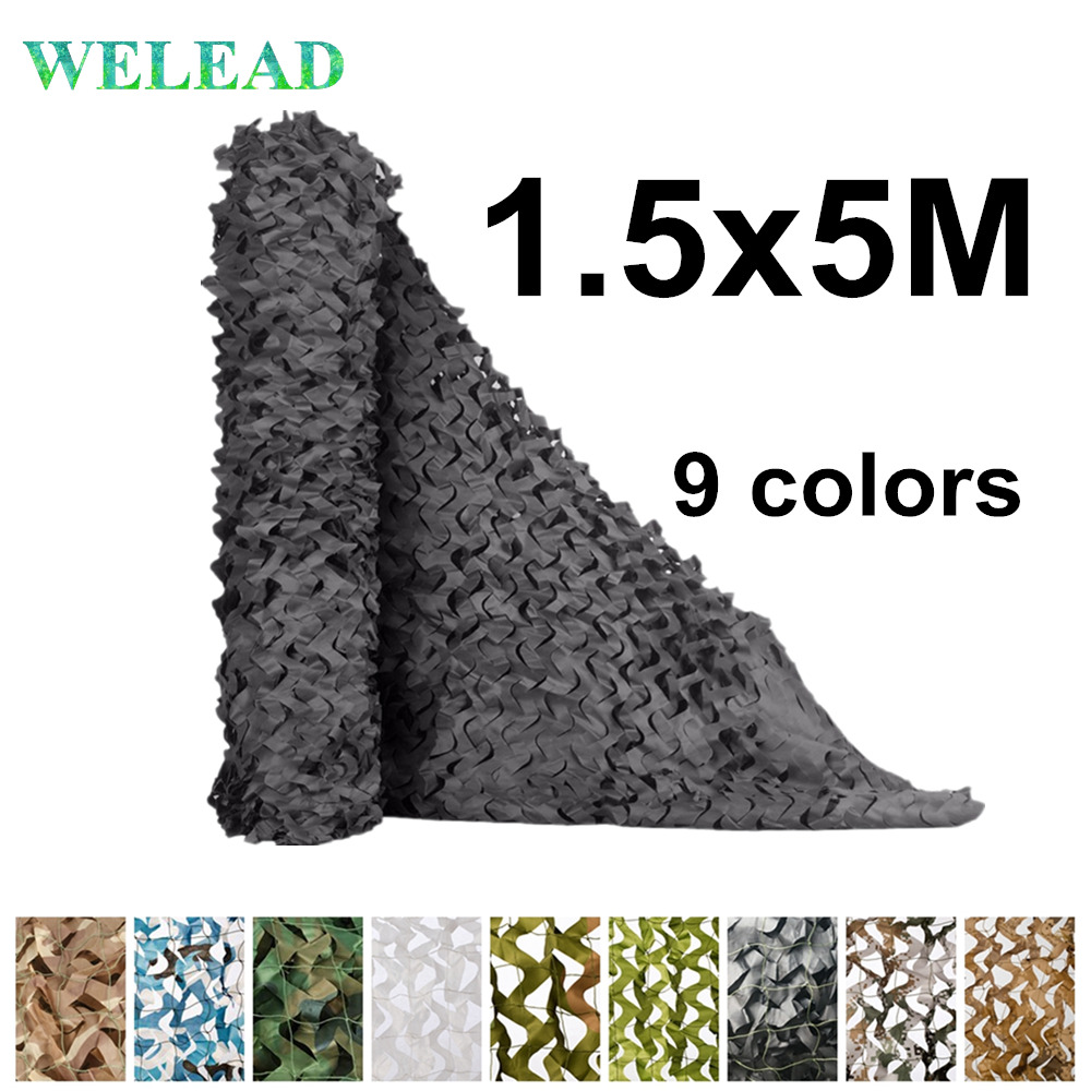 Camouflage Netting Sunshade Sail Camo Awning Army Net Canopy Mesh Hunting Hides