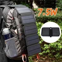 7.5W Outdoor Hiking Portable Foldable Solar Panel Charger Output Charging Interface Battery Charger For Phone MP3/PDA Power Bank