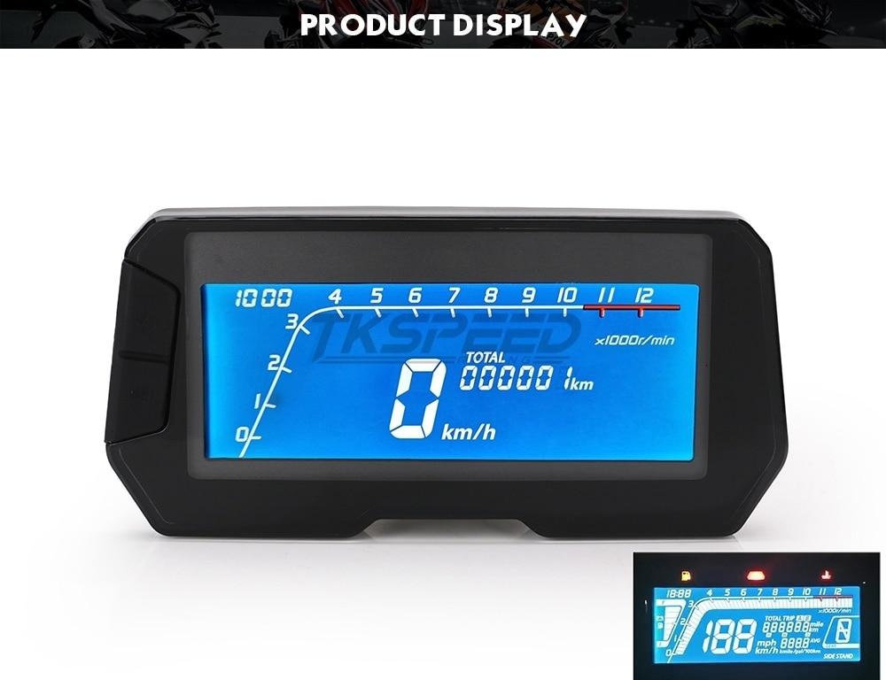 LIUWEI Motociclo 12000RMP LCD Digital Contachometro Tachimetro Tachimetro Tachimetro 1//2//4 Cilindro Color : Black