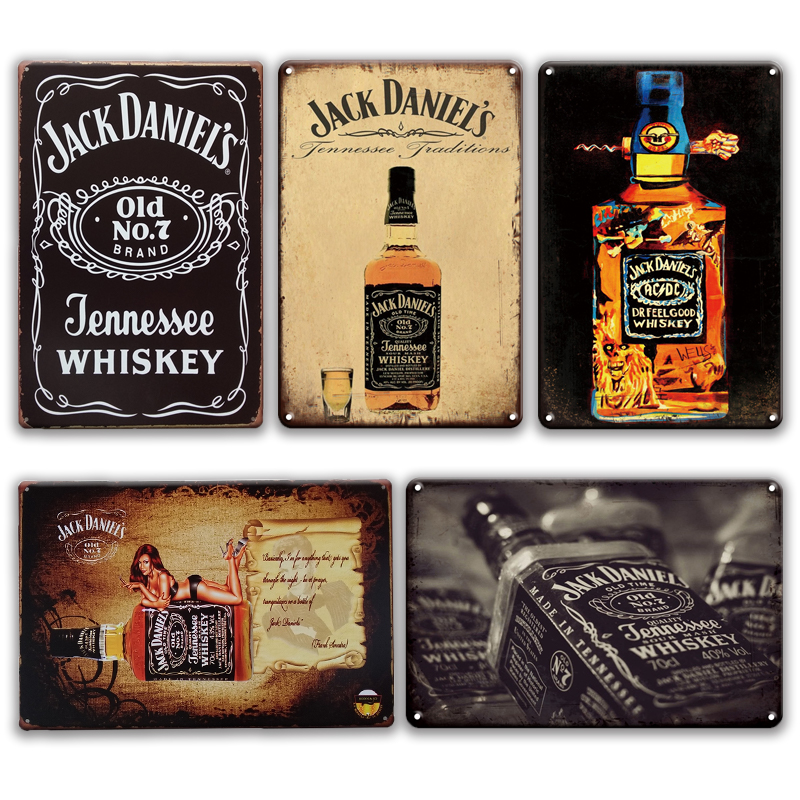 WHOLESALE LOT OF 3 Collectible Jack Daniels Bottle Bumper Stickers Fridge Decals