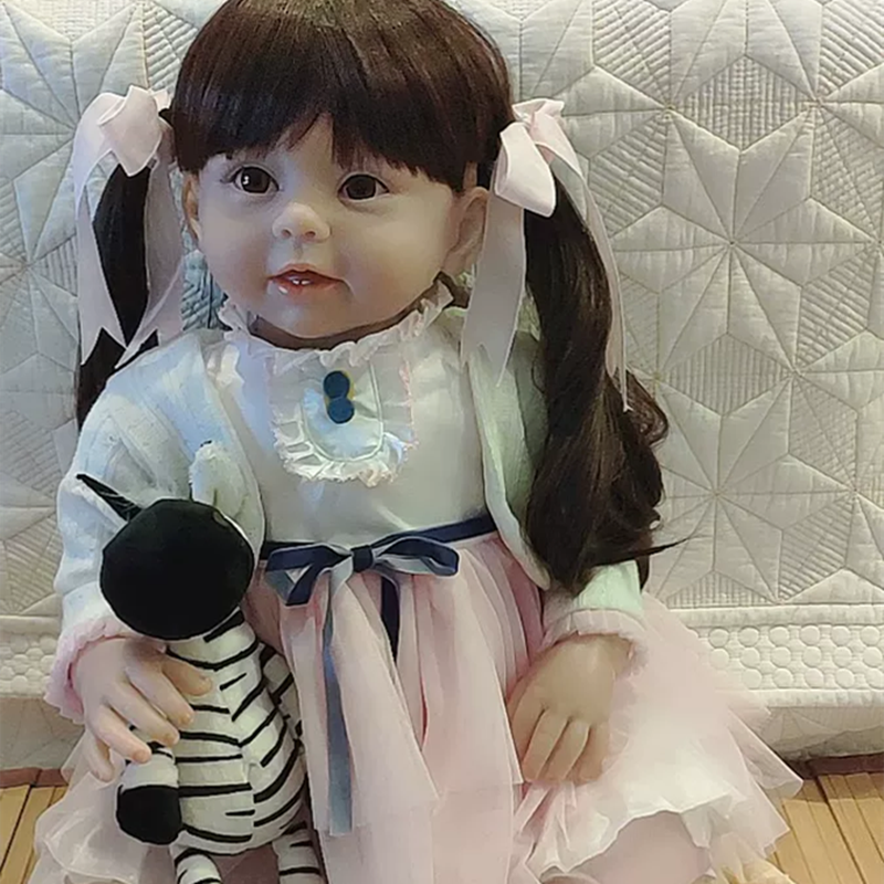 Full Solid Soft Silicone Handmade DIY Kits Toys For Reborn Baby Lifelike Doll CH