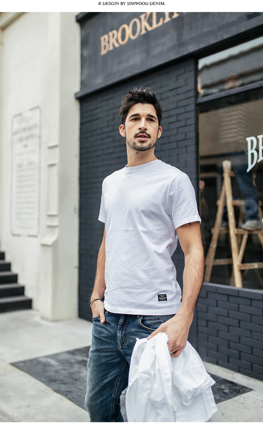 SIMWOOD 19 Summer New T-Shirt Men 100% Cotton Solid Color Casual t shirt Basics O-neck High Quality Plus Size Male Tee 190004 10