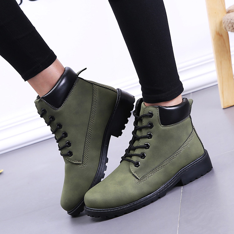 Winter boots women shoes 2019 fashion solid flats sneakers women snow boots women lace-up winter ankle boots casual shoes woman (3)