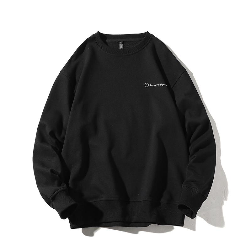 Sweatshirt Men Print Funny Picture  Hip Hop Crewneck Sweatshirts Sorry I Am Later Design Brand Clothing
