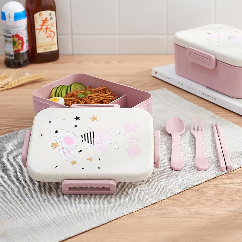 TUUTH Cute Cartoon Lunch Box Microwave Dinnerware Food Storage Container Children Kids School Office Portable Bento Box B7