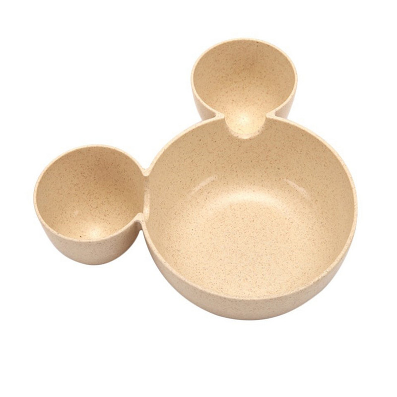 Wheat straw cartoon little mouse child rice bowl (4)