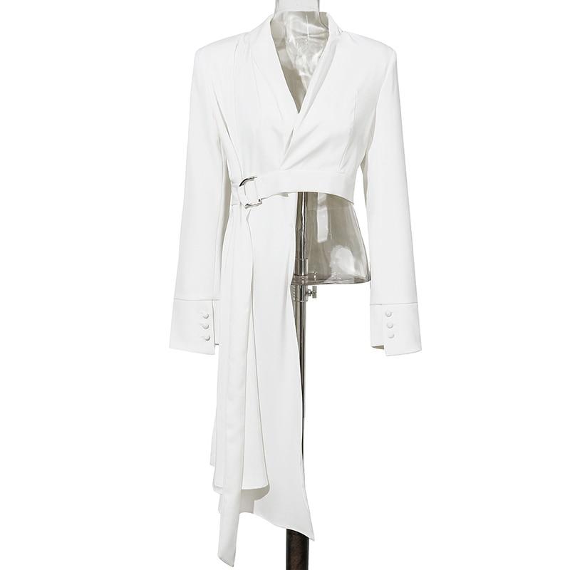 Women Long Blazer Asymmetrical Spring Autumn Blazer Coat Women 2020
