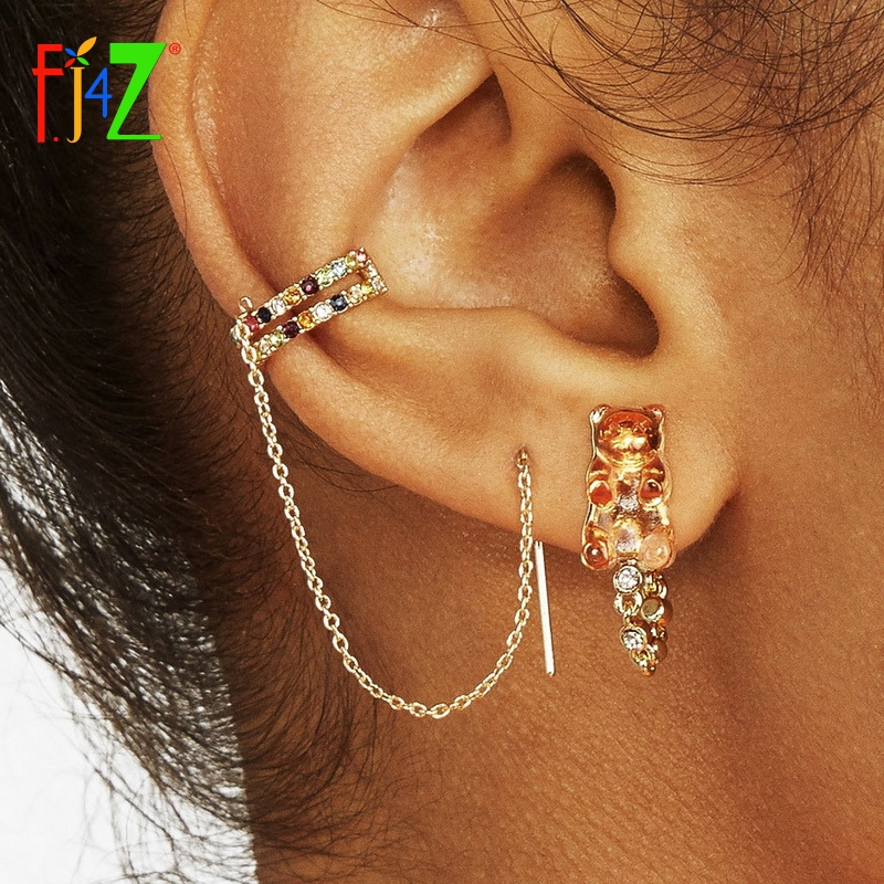 925 Sterling Silver Round White Fresh Water Cultured Pearl Wire Drop Gothic Non-pierced Clip-on Cartilage Earring Cuff//Ear Cuffs Wrap For Left Ear