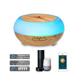 Умный Wifi беспроводной 400 мл Арома эфирные масла диффузор увлажнитель воздуха совместим с Alexa и Google Home amazon Голосовое управление