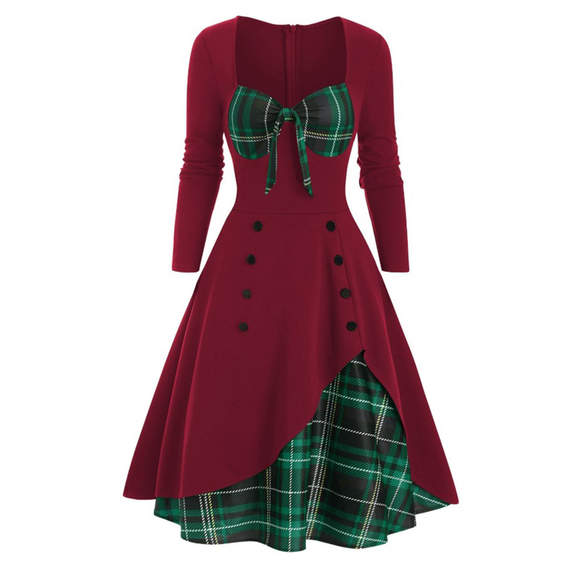 9269burgundy with green plaid (1)