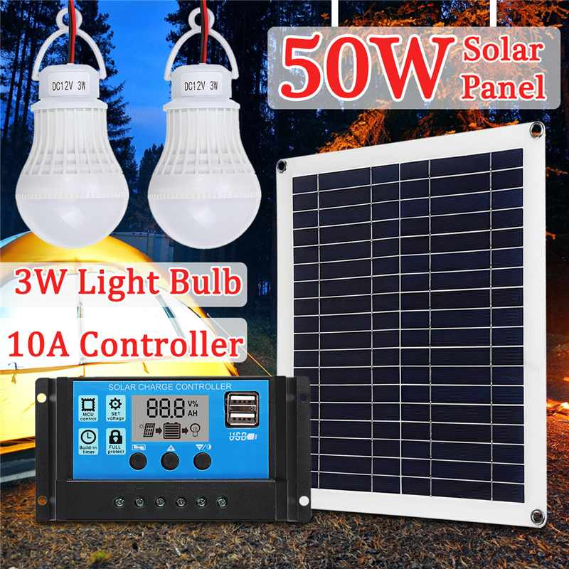 1 x 50w solar panel solar module 12v mono for garden camping boat