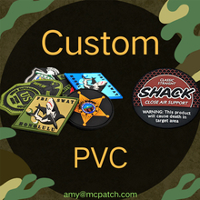 Custom PVC Patch Rubber Badges Hook and Loop for Caps Hats Bags 2D 3D Patches Tactical Punk Military Applique Helmet Arm Emblem