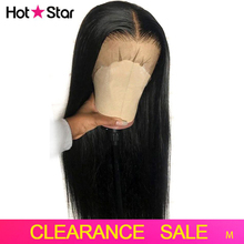 Human-Hair-Wigs Hairline Lace-Front Pre-Plucked Straight Brazilian 8-26inch Middle-Ratio
