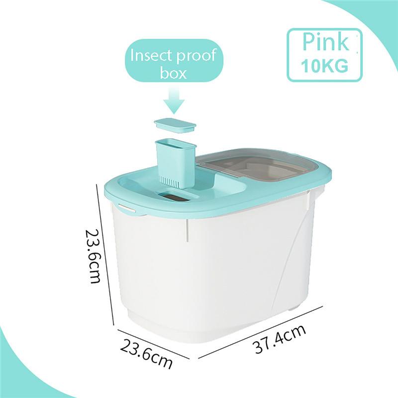 Plastic 5/10Kg Rice Storage Box Sealed Dust-Proof Rice/Cereal Storage Box Dispenser