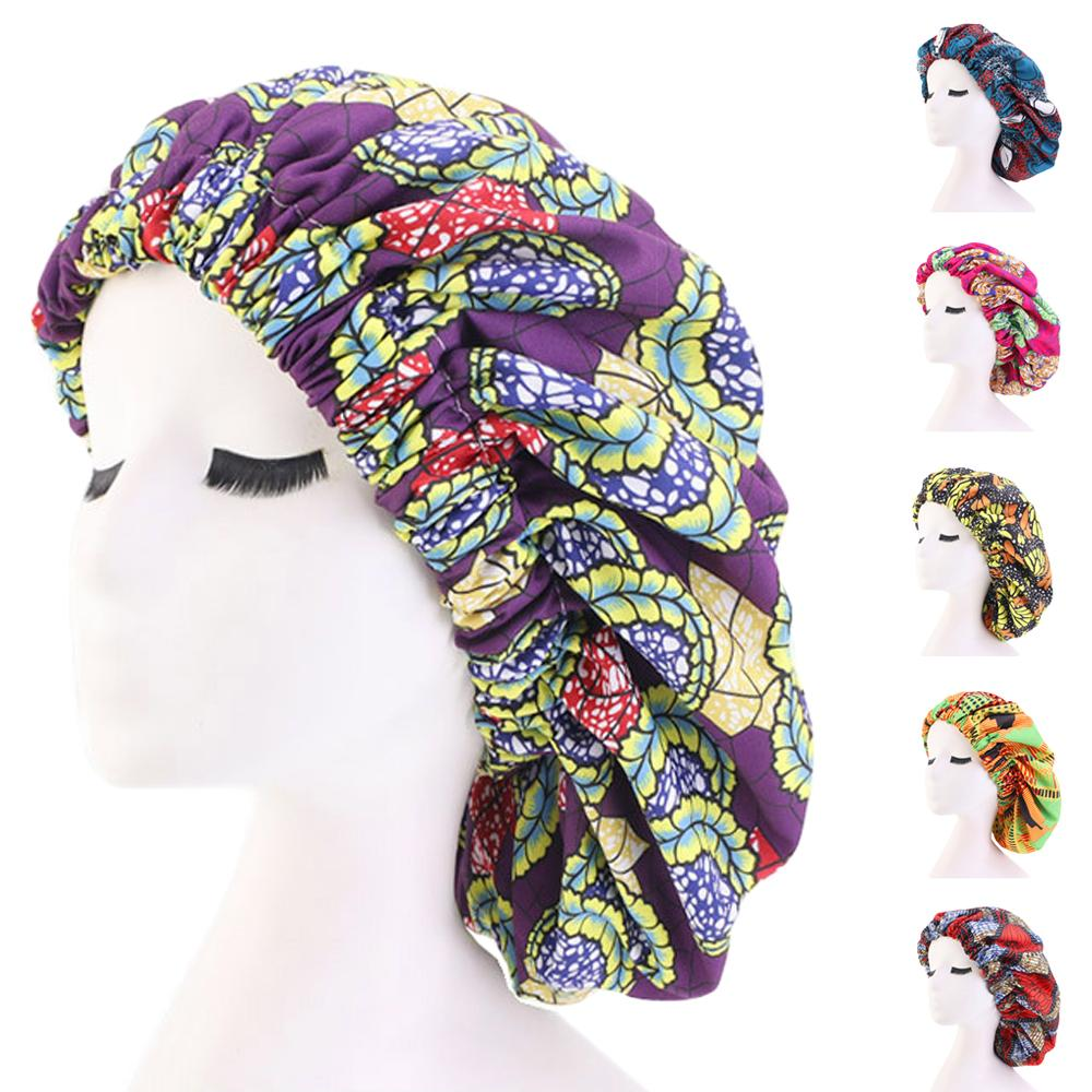 Knotted Head Stretch Wrap Turban SKULL SLEEP CAP PURPLE