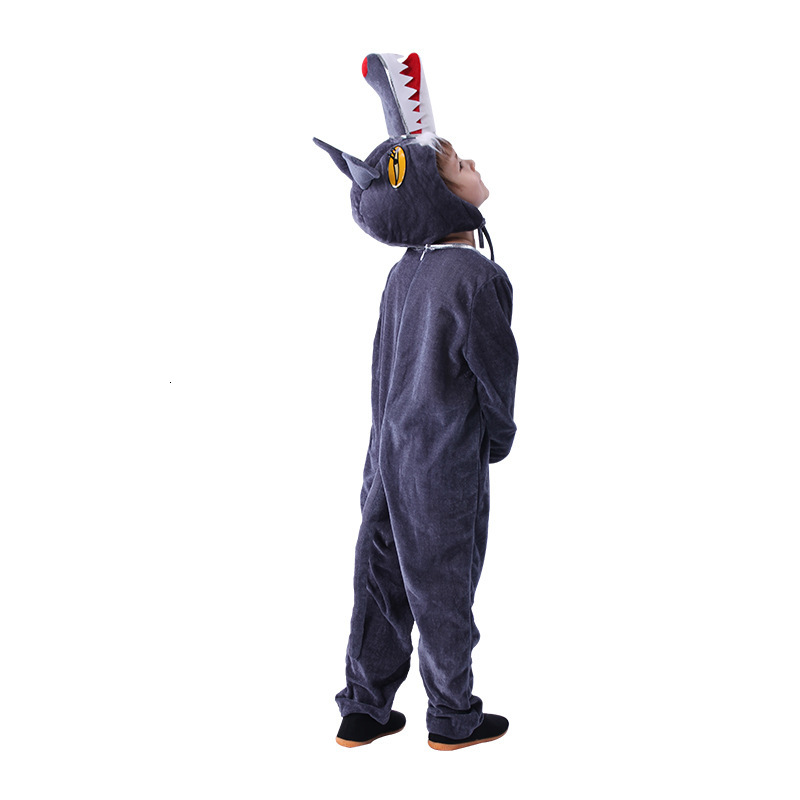 Cute Kids Animal Timber Wolf Costumes Boys Girls Pajamas Fancy Dress Outfit Cosplay Children For Birthday Festival Performance