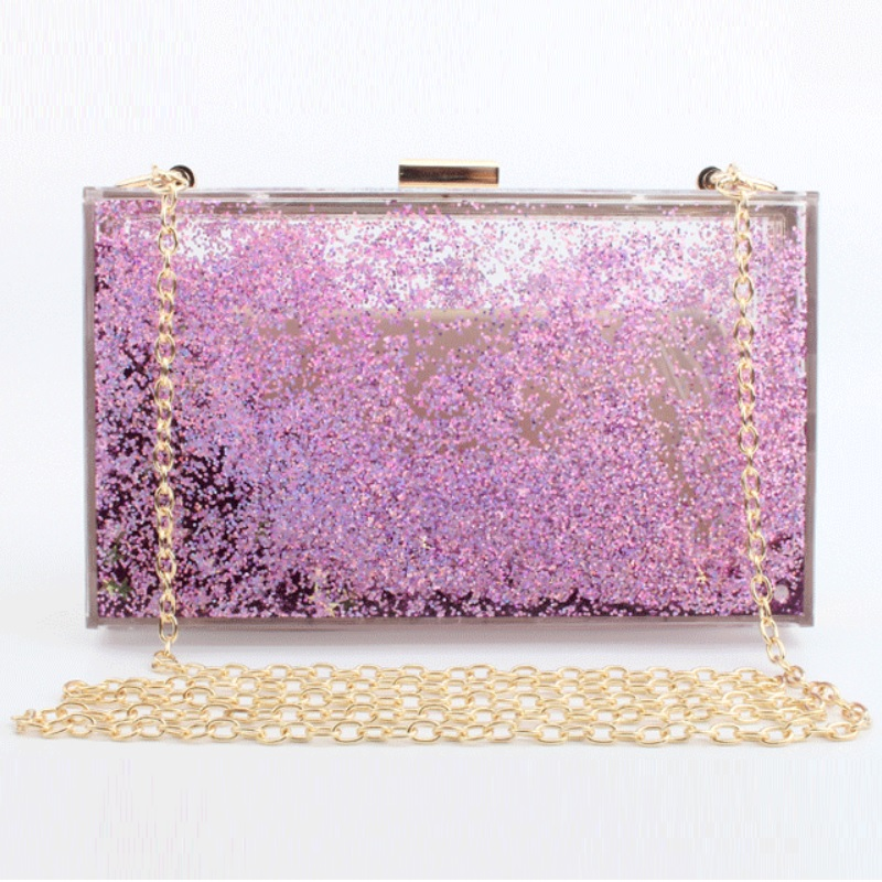 Caker Brand new Women Acrylic Bags Colorful Days Clutches Sequins Star Colorful Chain Shoulder Bags Wholesale Drop Shipping