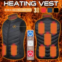 Heated-Vest Winter Fishing Outdoor Tactical Women 8-Areas Chauffante