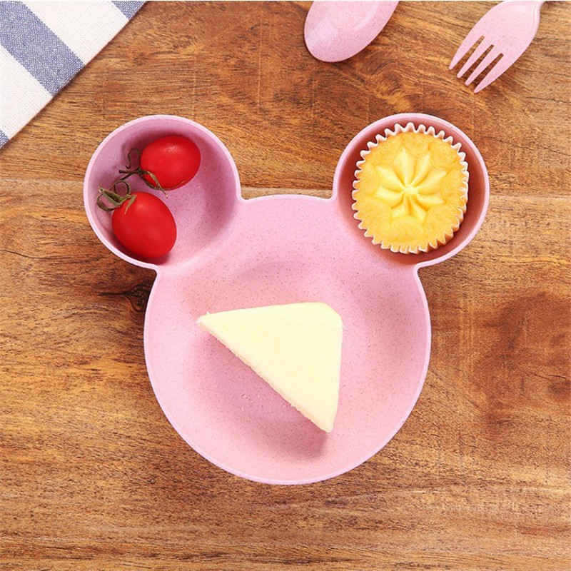Wheat straw cartoon little mouse child rice bowl (15)