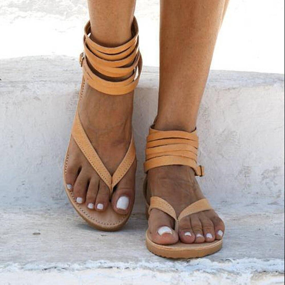 Final Fashion Women Roman Gladiator Sandal Ankle High Leather Shoes w// Zipper
