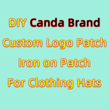 Patches Clothing Appliques Iron-On-Letters Canda Embrodiered Brand Logo Fashion for DIY