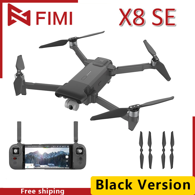 FIMI Camera Drone Gimbal Quadcopter X8 Se 3-Axis New 5KM FPV Black GPS RTF 33mins Flight-Time title=